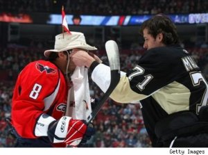 Alexander Ovechkin has a bit of fun - remember fun? - at the NHL Skills Competition in 2009.