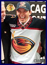 Patrik Stefan after being chosen #1 in the 1999 draft. Recognize him? Yeah, me neither.